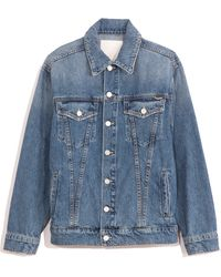 Mother The Buttoned Up Drifter Jacket - Blue