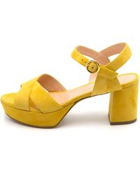 Rupert Sanderson Deidre Suede Sandal - Yellow