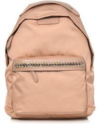Stella McCartney - Falabella Go Nylon Small Backpack In Powder - Lyst