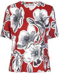 Stine Goya Leonie T-shirt Jasmine Dahlia - Red