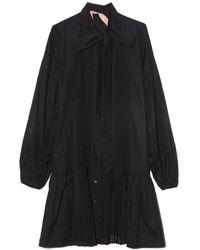 N°21 - Perforated Shirt Dress - Lyst