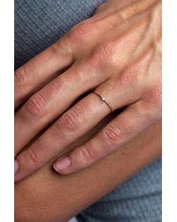 Otiumberg Diamond Bamboo Ring - Brown