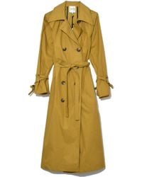 Sea - Classic Throw Back Trench In Tobacco - Lyst