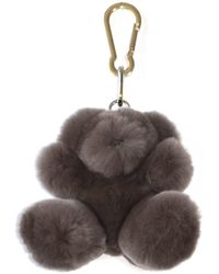 Yves Salomon Rabbit Keyholder - Brown