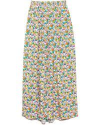Tibi Sabine Floral Pull On Cocoon Skirt - Multicolour