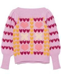LoveShackFancy Gizela Pullover - Pink