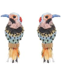 Mignonne Gavigan Woodpecker Earring - Multicolour