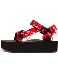 ARIZONA LOVE Trekky Platform Sandal - Red