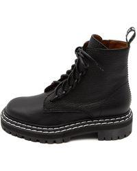 Proenza Schouler Combat Lace Up Boot - Black