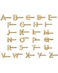 Otiumberg Alphabet Studs In Gold - Metallic