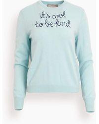 Lingua Franca It's Cool To Be Kind Crewneck - Blue