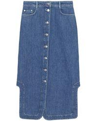 Ganni Suit Denim Skirt - Blue