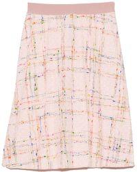 Giambattista Valli Tweed Skirt - Pink