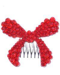 Simone Rocha Large Bow Hair Clip - Red