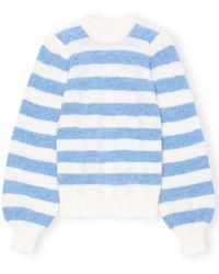 Ganni Soft Wool Knit Sweater - Blue