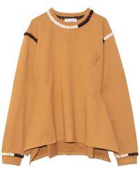 JW Anderson Asymmetric Contrast Stitch Sweatshirt - Multicolour