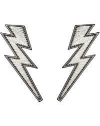 Mignonne Gavigan Lightening Bolt Earrings - Metallic