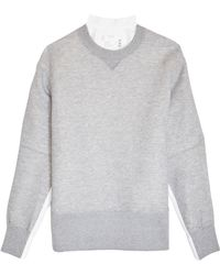 Sacai Sponge Sweatshirt - Gray