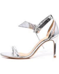 Alexandre Birman - Clarita Vinyl Sandal In Silver/transparent - Lyst