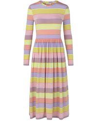Stine Goya Joel Jersey Dress Pastel Stripes - Multicolor