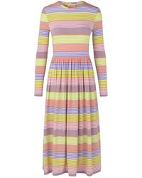 Stine Goya Joel Jersey Dress Pastel Stripes - Multicolour