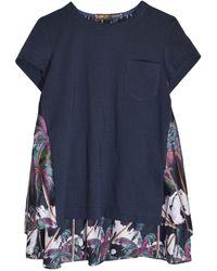 Sacai Sun Surf / Diamond Head T-shirt - Blue