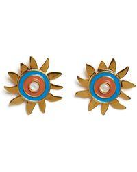 Lizzie Fortunato Corsica Sun Earrings - Green