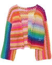Rose Carmine Bolero Top - Multicolour