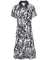 N°21 Embellished Zebra Print Dress - Black