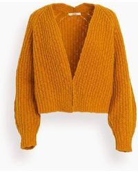 ODEEH Wool Cardigan - Orange