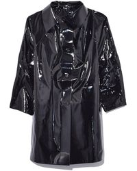 Kassl Lacquer Above The Knee Trench - Multicolour