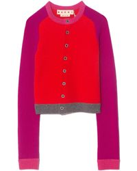 Marni Colorblock Cardigan - Red
