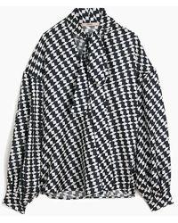 ODEEH Tie Blouse - Black