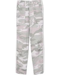 Mother - The Shaker Chop Crop Fray Pant In Desert Print - Lyst