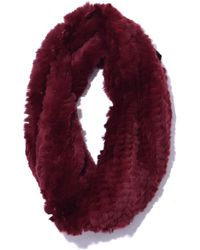 Yves Salomon - Rex Rabbit Snood In Burgundy - Lyst