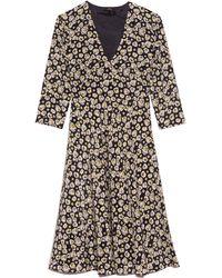 Aspesi V-neck 3/4 Sleeve Dress - Multicolour