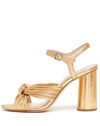 Loeffler Randall Cece High Heel Knot Ankle Strap Sandal - Multicolour