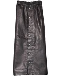 Sea Lydia Leather Skirt - Multicolor