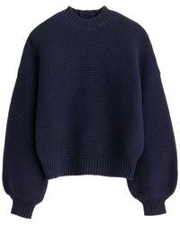 Alex Mill Button-back Crewneck Sweater - Blue