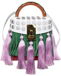 the VOLON - Tassel Box Bag In Green - Lyst
