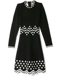 Lela Rose Long Sleeve Dress - Black