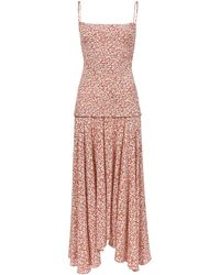 PROENZA SCHOULER WHITE LABEL Micro Floral Smocked Dress - Pink