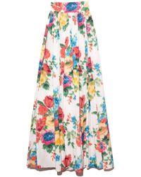 Carolina Herrera A-line Ball Skirt - Multicolour