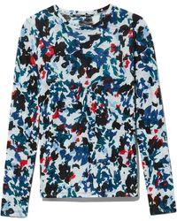 Proenza Schouler Floral Tissue Jersey T-shirt - Blue