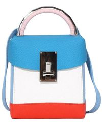 the VOLON - Box Basic Bag In Aquablue/white - Lyst