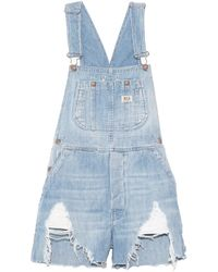 R13 Overall Short - Blue