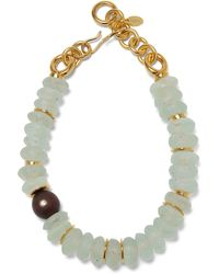 Lizzie Fortunato Tidal Gold-plated, Amethyst And Wood Necklace - Multicolor
