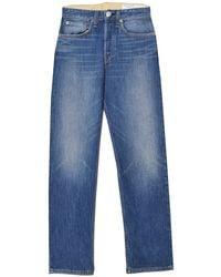 Rag & Bone Maya High Rise Ankle Straight Jean In Rocco - Blue
