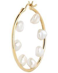 Maria Black Baroque 35 Hoop Earrings - Metallic