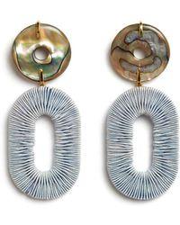 Lizzie Fortunato Adriatic Earrings In Pale Blue